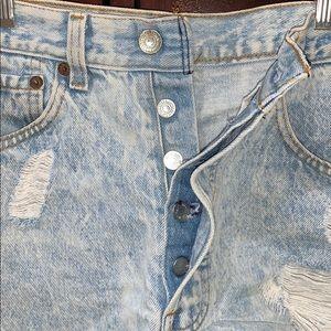 Levi's Shorts - Distressed Jean Levi's Shorts